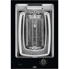 Aeg Hfb41100nb Induction hob / fryer cm. 36 - black / stainless steel glass ceramic Domino Crystal Line