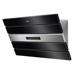 Aeg Dvk6980hb Wall hood cm. 90 - black glass Face Street