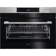 Aeg Ksk792220m Compact oven combined steam cm.60 h.45 - black glass Steampro