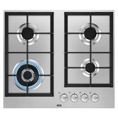 Aeg Hgb64301um Gas cooking top cm. 60 - inox cast iron grids 949 640 729