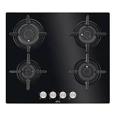 Aeg Hg694840nb Gas hob cm. 60 - black crystal - without original packaging