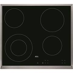 Aeg Hk624010xb Electric hob cm. 58 - black ceramic glass stainless steel frame