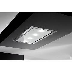 Airone Otello Classic Tr Led Ceiling hood cm. 90 - inox - white glass - without engine