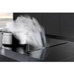 Airone AVQ980000500000001 - BACH CA 520 VE NERO TC+MOT.ZOCCOLO AMF13 Hood from floor cm. 14 p. 52 engine 855 m3/h - black glass