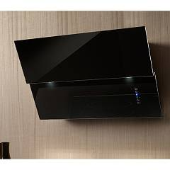 Airone Vivaldi Ca I 80 Ve Nero Tv H850 Led Wall hood cm. 80 - black glass