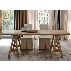 Alta Corte Eco Lab Parigi Lb-ta7423 Fixed table l. 200 x 100 legs horse