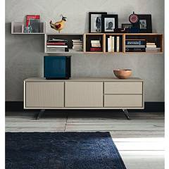 sale Alta Corte Eco Lab Nook Lb-zg7130f Tv Stand 2 Doors Gates - 2 Drawers