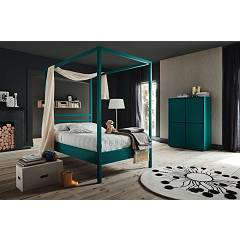 Alta Corte Eco Lab Nemo Lb-zn7230 Baldacchino bed cm. 130 x 215 1 square and half
