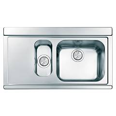Apell Ir9015ilsc Sink 1 bowl and a half + left drainer cm. 90x51 - brushed stainless steel Iris
