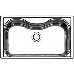 Apell Cr860ibc 1 bowl sink cm. 86x51 - brushed stainless steel Criteria