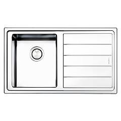 Apell Lnp861frbc Sink 1 bowl + drainer right cm. 86x50 - brushed stainless steel Linear Plus