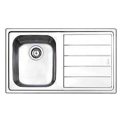 Apell Ln861irbc Semi-flush sink 1 bowl + drainer right cm. 86x50 - brushed stainless steel Linear