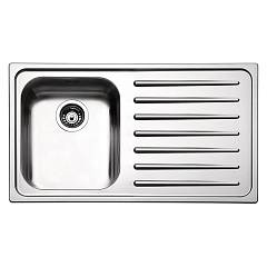 Apell To861irbc Sink 1 bowl + drainer right cm. 86x50 - brushed stainless steel Torino