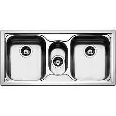 Apell To1003ibc Sink 2 bowls and 1/2 cm. 100x50 - brushed stainless steel Torino