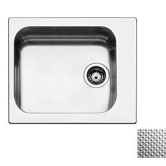 Apell To58iac Sink 1 bowl cm. 58x50 - scratch-resistant stainless steel Torino