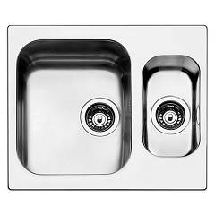 Apell To3415ibc Sink 1 bowl and 1/2 cm. 58x50 - brushed stainless steel Torino