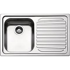 Apell Ve791irbc Sink 1 bowl + drainer right cm. 79x50 - brushed stainless steel Venezia