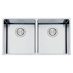 Apell Fem3434ubc Sink 2 bowls cm. 80x47 - brushed stainless steel Ferrara Plus