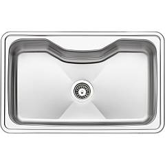 Apell Cr800ibc Sink 1 bowl cm. 80x50 - brushed stainless steel Criteria