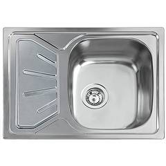 Apell Tm651ilpc Semi-flush sink 1 bowl + left drainer cm. 65x50 - pre-polished stainless steel Atmosfera