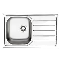 Apell Oh791irpc Semi-flush sink 1 bowl + drainer right cm. 79x50 - pre-polished stainless steel Oceano
