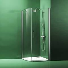 sale Arblu Dedalo Box Corner Semicircular Extensibility Cm. 77,5 - 79,5 Radius Cm. 55 1 Door Hinged Door + Fixed Side H 200