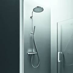 Arblu 10290 Shower column wall cm. 28 x 33 h 133 stainless steel Cristina