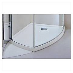 Arblu 12560 Shower tray h 1.5 cm. 73 x 118 semi recessed asymmetric Aqua 110