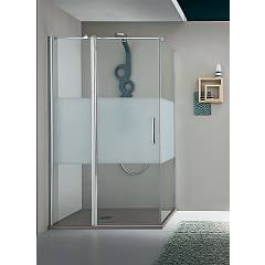 Arblu Dedalo Plus Angolo Square shower cubicle h 200 - 1 hinged door + 1 fixed side Dedalo