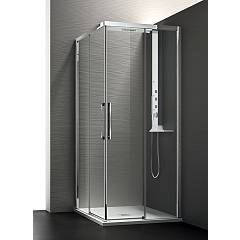 Arblu Perseo Angolo Square shower cubicle / h 200 - 2 sliding doors Perseo