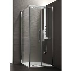 Arblu Perseo Angolo Square shower cubicle h 200 - 2 saloon doors + 1 fixed side Perseo