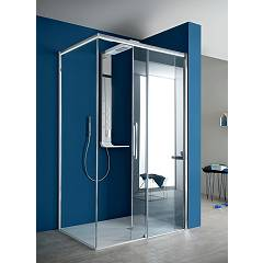 Arblu Perseo Angolo Square shower cubicle h 200 - 1 sliding door + 1 fixed side Perseo