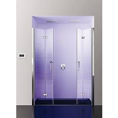 Arblu Sei Nicchia N 195 shower enclosure - 2 folding doors Sei