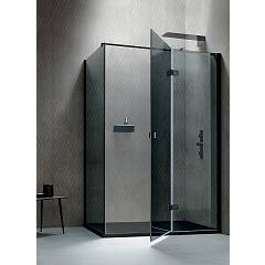 Arblu Otto Angolo Square / rectangular shower box h 205 - 1 hinged door + 1 fixed side Otto