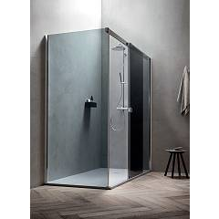 Arblu Otto Angolo Square / rectangular shower box h 205 - 1 sliding door + 1 fixed side Otto