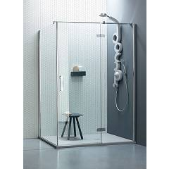 Arblu Sei Angolo Square / rectangular shower box h 195 - 1 hinged door + 1 fixed side Sei