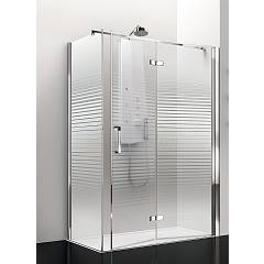Arblu Sei Angolo Square / rectangular shower box h 195 - 1 folding door + 1 fixed side Sei
