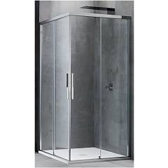 Arblu Sirio Angolo Square shower cubicle / h 200 - 2 sliding doors Sirio