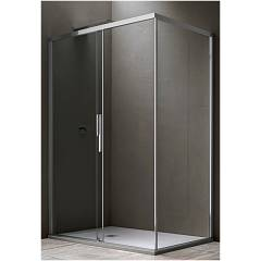Arblu Sirio Angolo Square shower cubicle h 200 - 1 sliding door + 1 fixed side Sirio