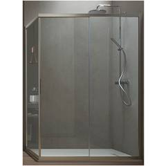 Arblu Vega Angolo Square / rectangular shower box h 195 - 1 sliding door + 1 fixed side Vega