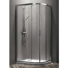 Arblu Vega Angolo Round shower box h 195 - 2 sliding doors Vega