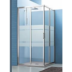 Arblu Mercurio Angolo Square / rectangular shower box h 195 - 2 sliding doors Mercurio