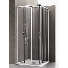 Arblu Mercurio Angolo Square / rectangular shower box h 195 - 4 sliding doors Mercurio