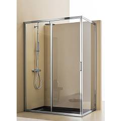 Arblu Mercurio Angolo Rectangular shower box h 195 - 1 sliding door + 1 fixed side Mercurio