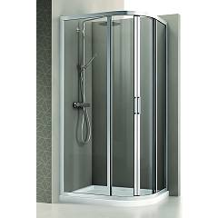 Arblu Mercurio Angolo Semicircular shower box h 195 - 2 sliding doors Mercurio