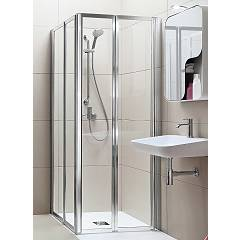Arblu Time Angolo Square / rectangular shower box h 190 - 2 folding doors Time