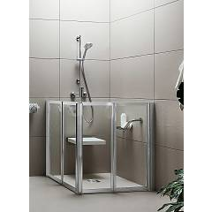Arblu Time Angolo Square / rectangular shower box h 95/190 - 2 folding doors Time