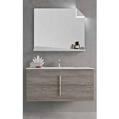 Ardeco Mo 02 Bathroom composition l 105 complete with sink with drawers and mirror Start Block