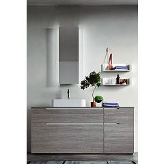 Ardeco Sl 04 Bathroom composition l 170 complete with sink with mirror door drawers and shelves Start Line