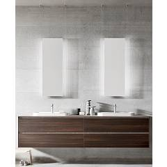 Ardeco Sp 03 Bathroom composition l 210 complete with 2 washbasins with drawers and mirrors Start Play